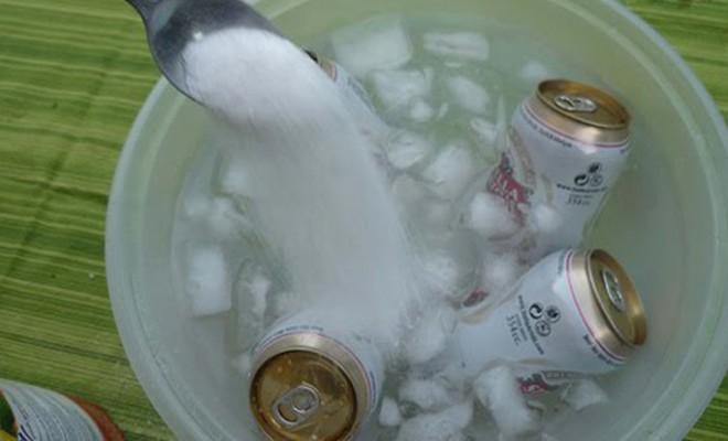 hielo y sal