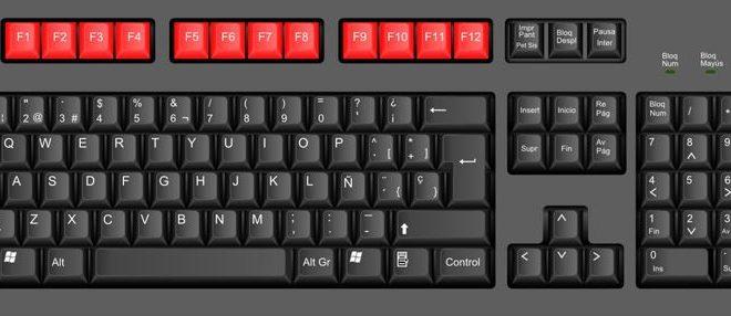 Las funciones de los botones F del teclado